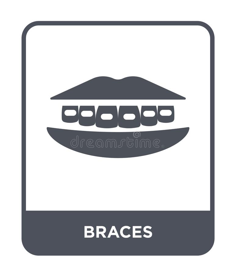 icono de los apoyos en estilo de moda del diseño icono de los apoyos aislado en el fondo blanco símbolo plano simple y moderno de stock de ilustración