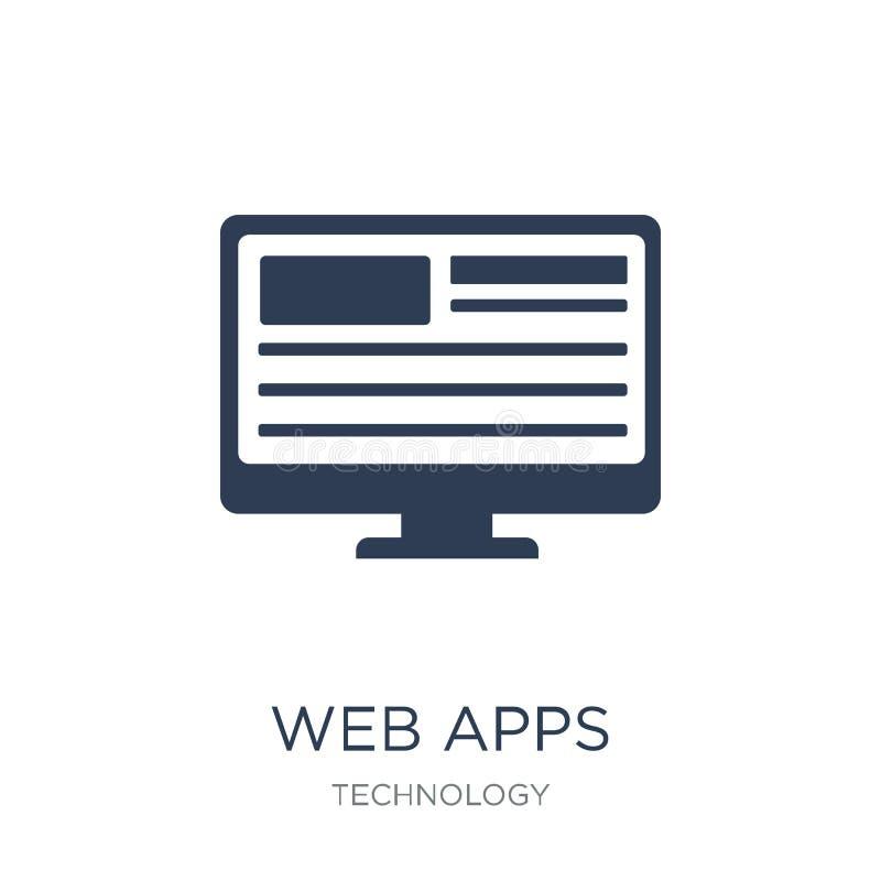 Icono de los APPS de la web Icono plano de moda de los APPS de la web del vector en el backgro blanco ilustración del vector