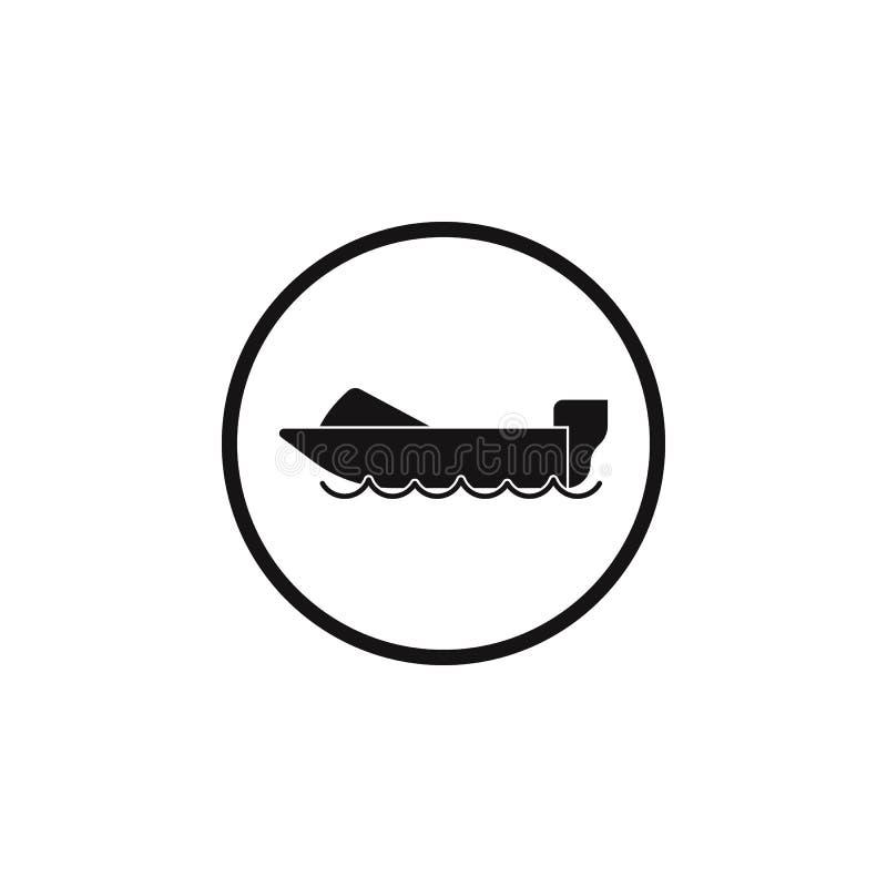 icono de los barcos de motor de la muestra El elemento del peligro firma el icono Icono superior del diseño gráfico de la calidad libre illustration