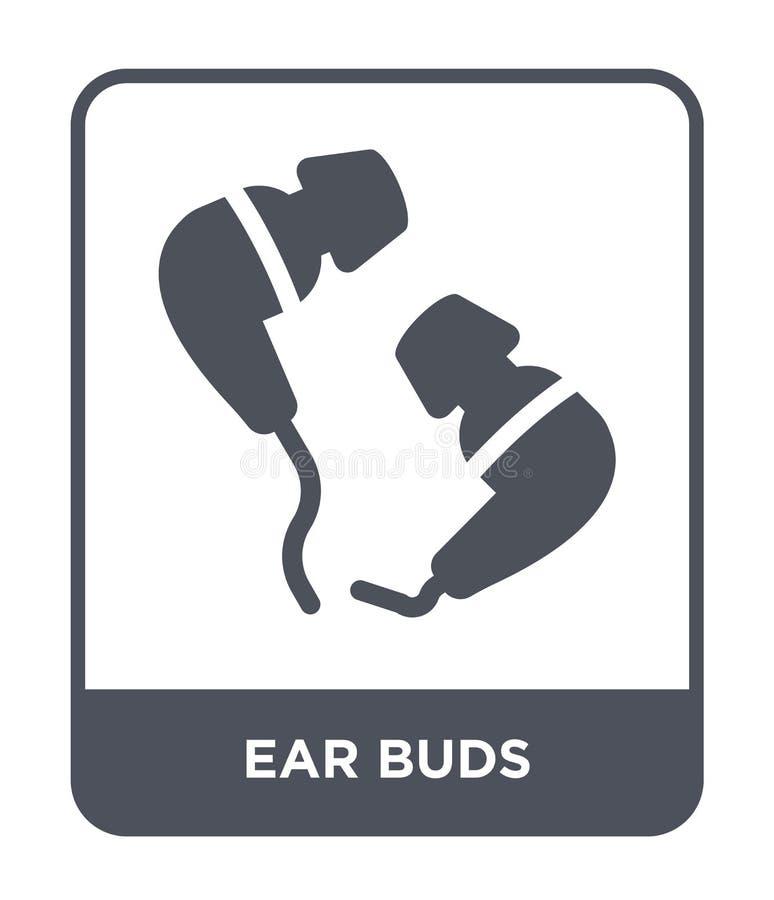 icono de los botones de oído en estilo de moda del diseño icono de los botones de oído aislado en el fondo blanco plano simple y  ilustración del vector