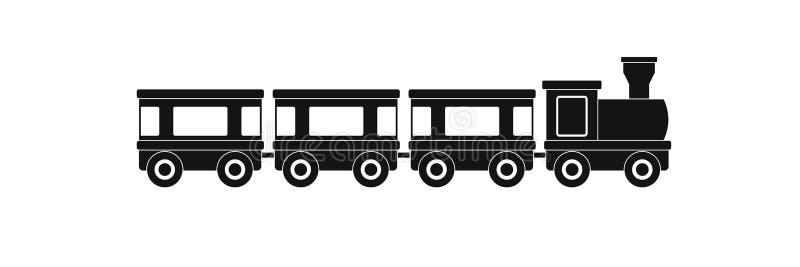 Icono de los carros, estilo simple stock de ilustración
