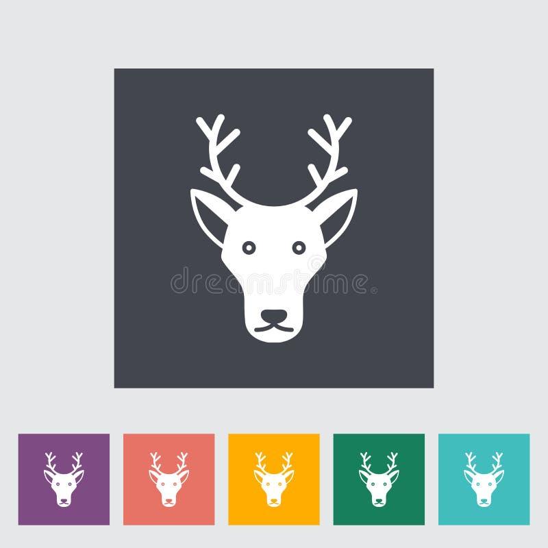 Icono de los ciervos ilustración del vector