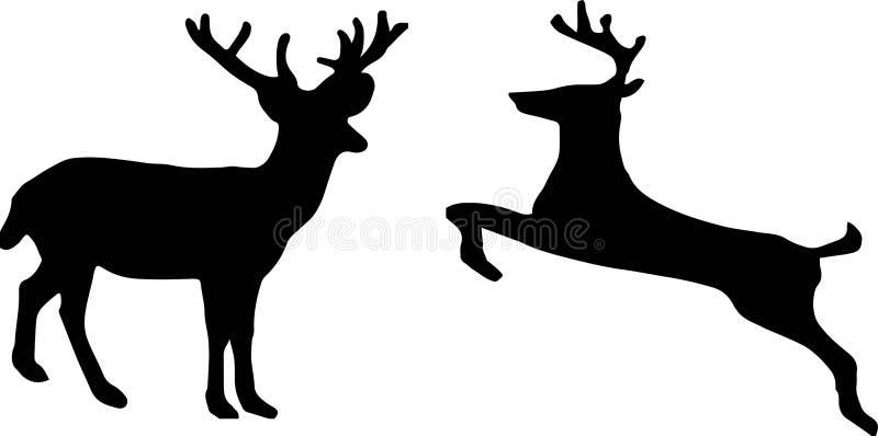 Icono de los ciervos en el fondo blanco stock de ilustración