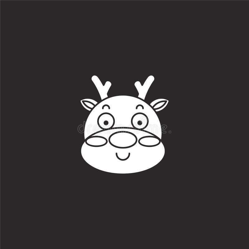 Icono de los ciervos Icono llenado de los ciervos para el diseño y el móvil, desarrollo de la página web del app el icono de los  ilustración del vector