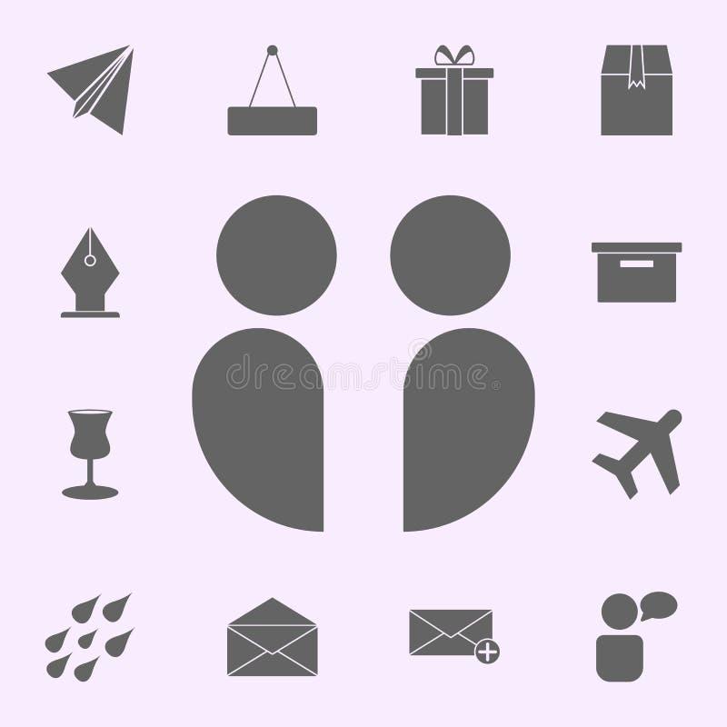Icono de los colegas sistema universal de los iconos del web para el web y el m?vil libre illustration