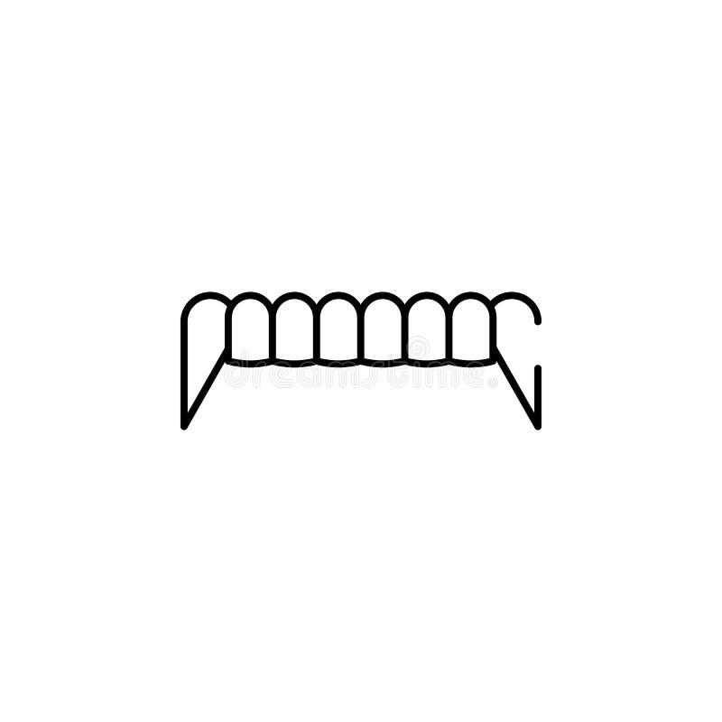 icono de los colmillos Elemento del ejemplo de Halloween Icono superior del diseño gráfico de la calidad Muestras e icono de la c libre illustration