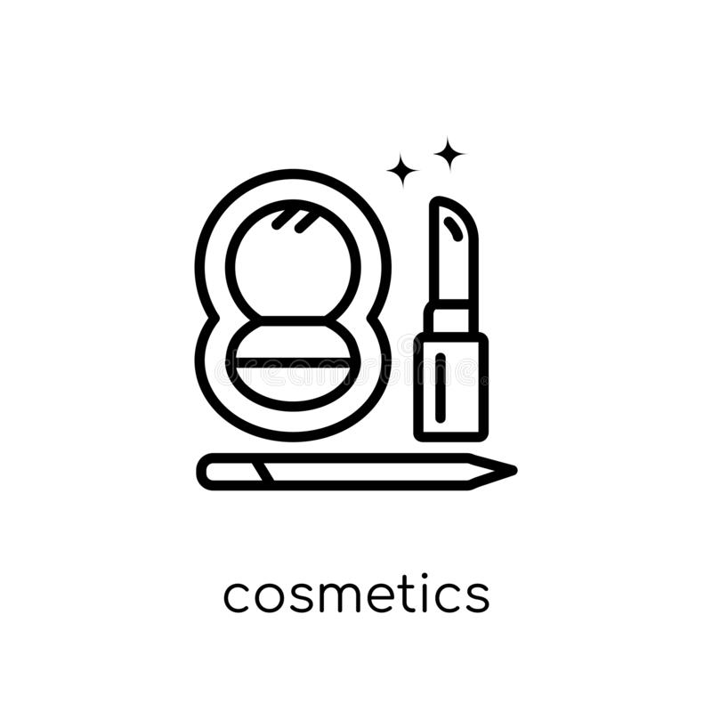 Icono de los cosméticos de la colección de la higiene ilustración del vector