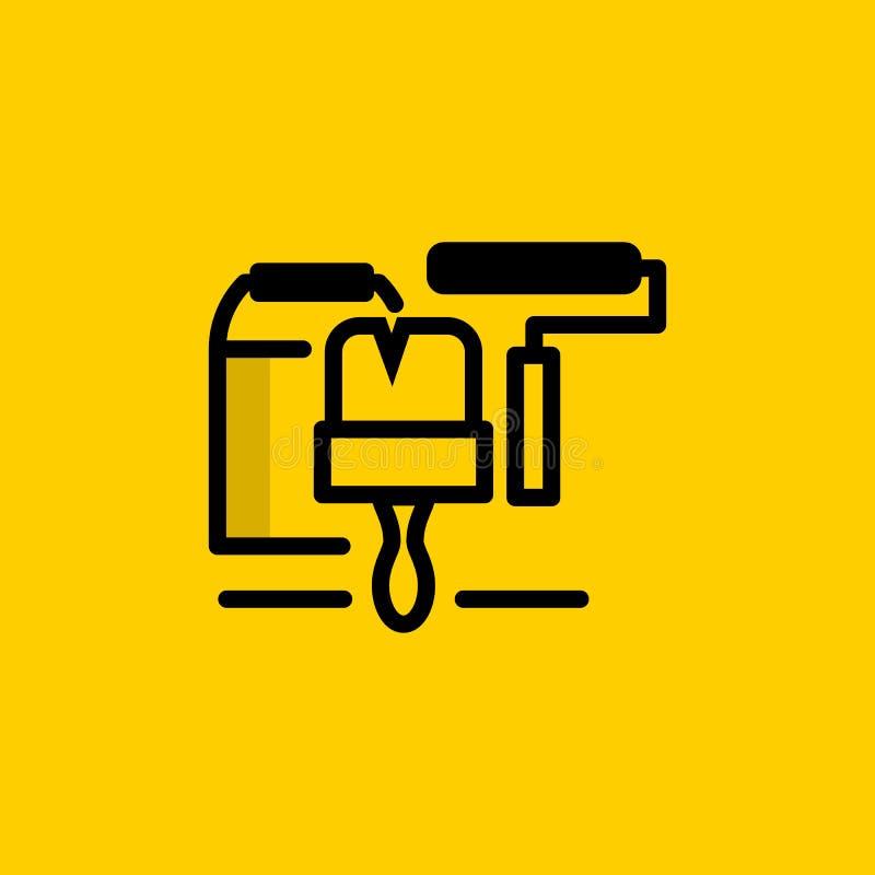 Icono de los cuidados en casa y de la renovación libre illustration