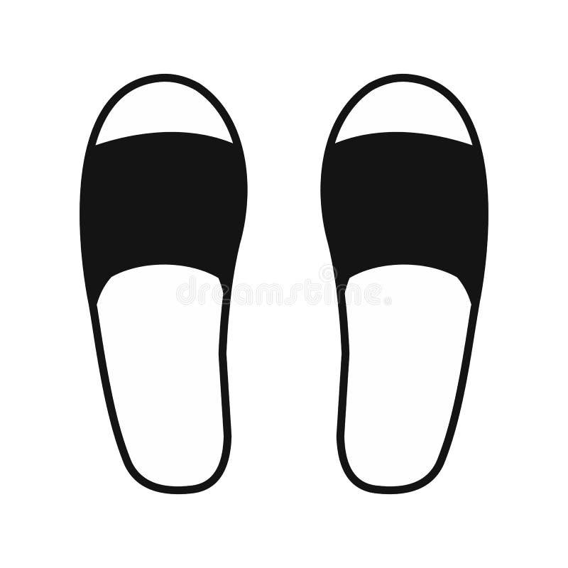 Icono de los deslizadores del balneario stock de ilustración