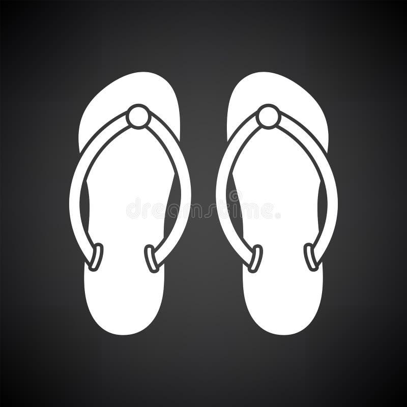 Icono de los deslizadores del balneario ilustración del vector