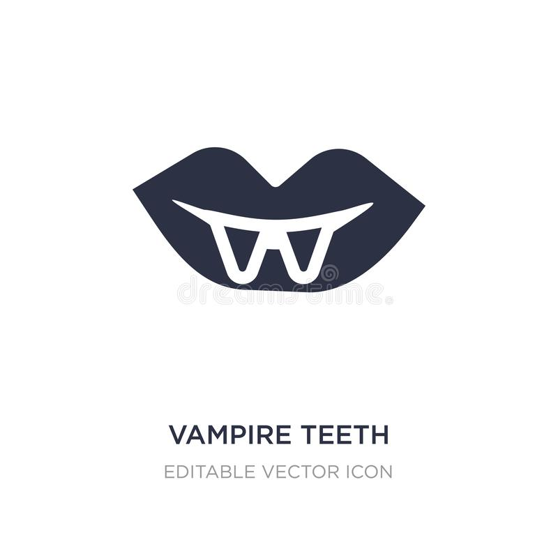 icono de los dientes del vampiro en el fondo blanco Ejemplo simple del elemento del concepto de Halloween stock de ilustración