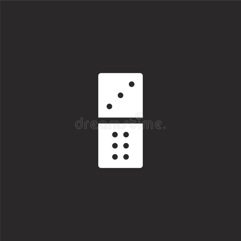 Icono de los domin?s Icono llenado de los dominós para el diseño y el móvil, desarrollo de la página web del app icono de los dom ilustración del vector