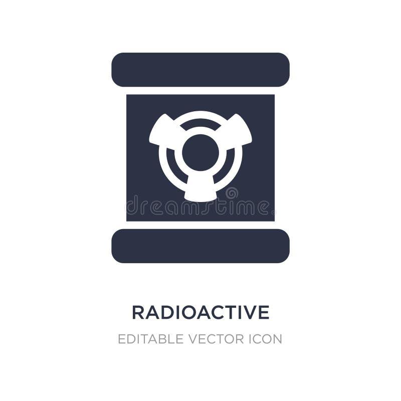 icono de los elementos radiactivos en el fondo blanco Ejemplo simple del elemento del concepto de las muestras stock de ilustración