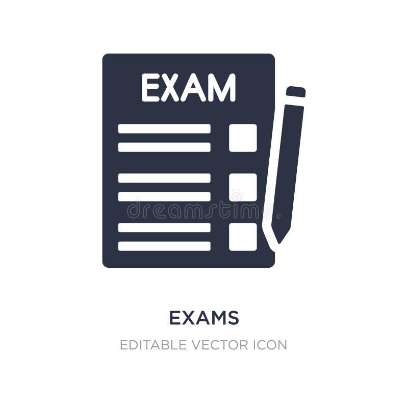 icono de los exámenes en el fondo blanco Ejemplo simple del elemento del concepto de la educación libre illustration