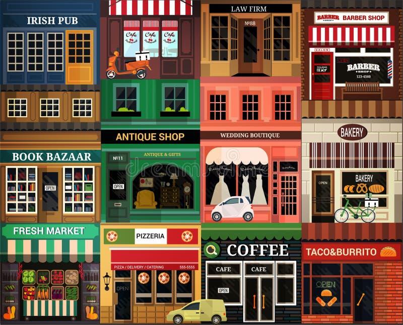 Icono de los exteriores stock de ilustración