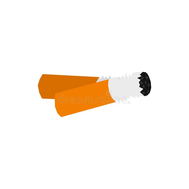 Icono de los extremos de cigarrillo, estilo plano libre illustration