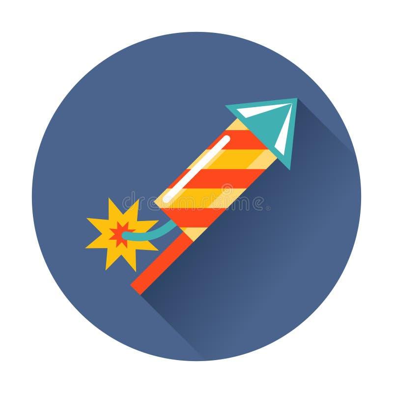 Icono de los fuegos artificiales de Rocket ilustración del vector