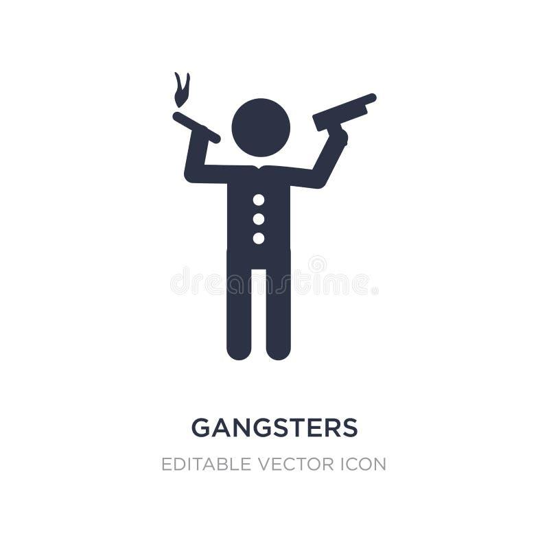 icono de los gángsteres en el fondo blanco Ejemplo simple del elemento del concepto de la gente libre illustration