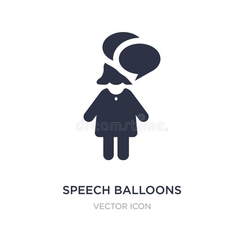 icono de los globos de discurso en el fondo blanco Ejemplo simple del elemento del concepto de la gente libre illustration