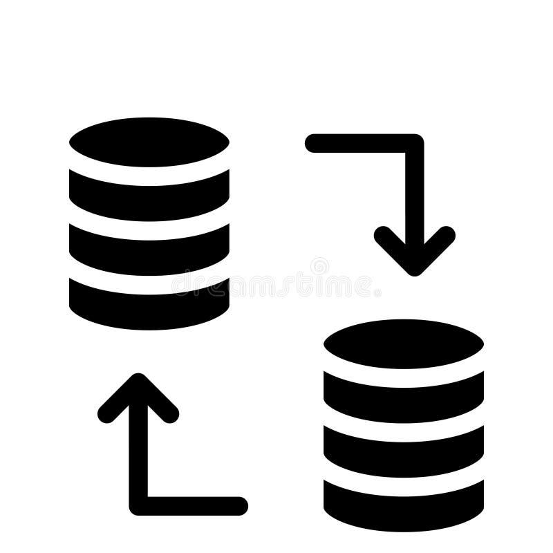 Icono de los glyphs del vector de la transferencia de la base de datos libre illustration