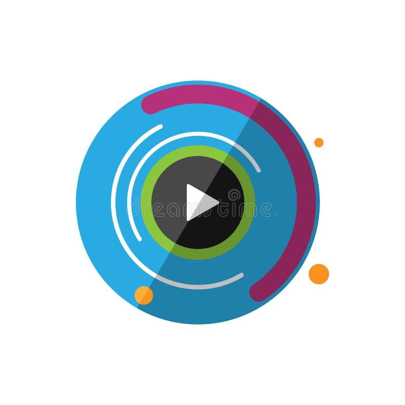 Icono de los gráficos del movimiento Ejemplo de la animación de Digitaces stock de ilustración