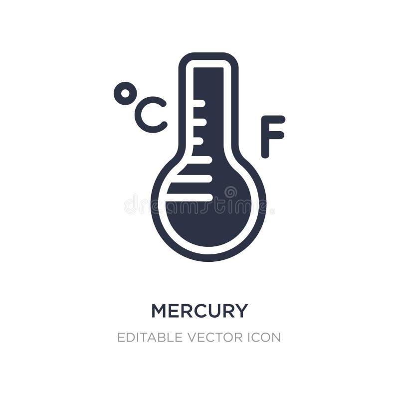 icono de los grados del termómetro de mercurio en el fondo blanco Ejemplo simple del elemento del concepto de las herramientas y  ilustración del vector