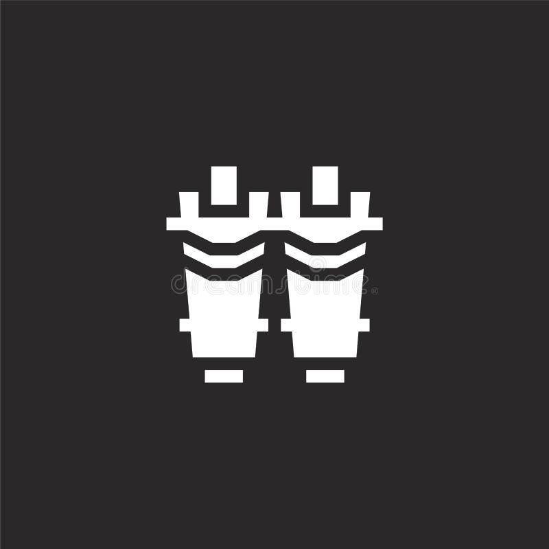 icono de los guardias de espinilla Icono llenado de los guardias de espinilla para el diseño y el móvil, desarrollo de la página  libre illustration