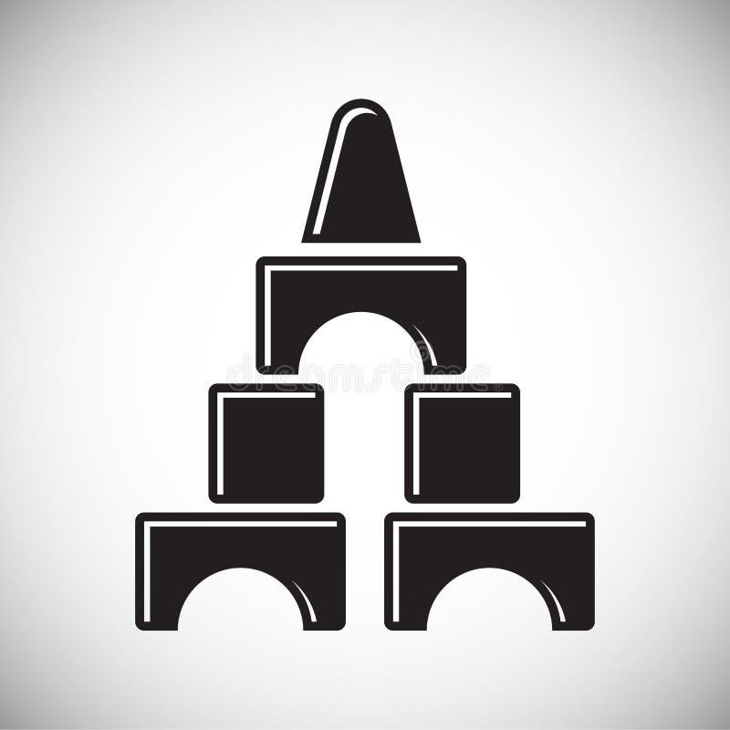 Icono de los juguetes en el fondo para el gráfico y el diseño web Muestra simple del vector Símbolo del concepto de Internet para stock de ilustración