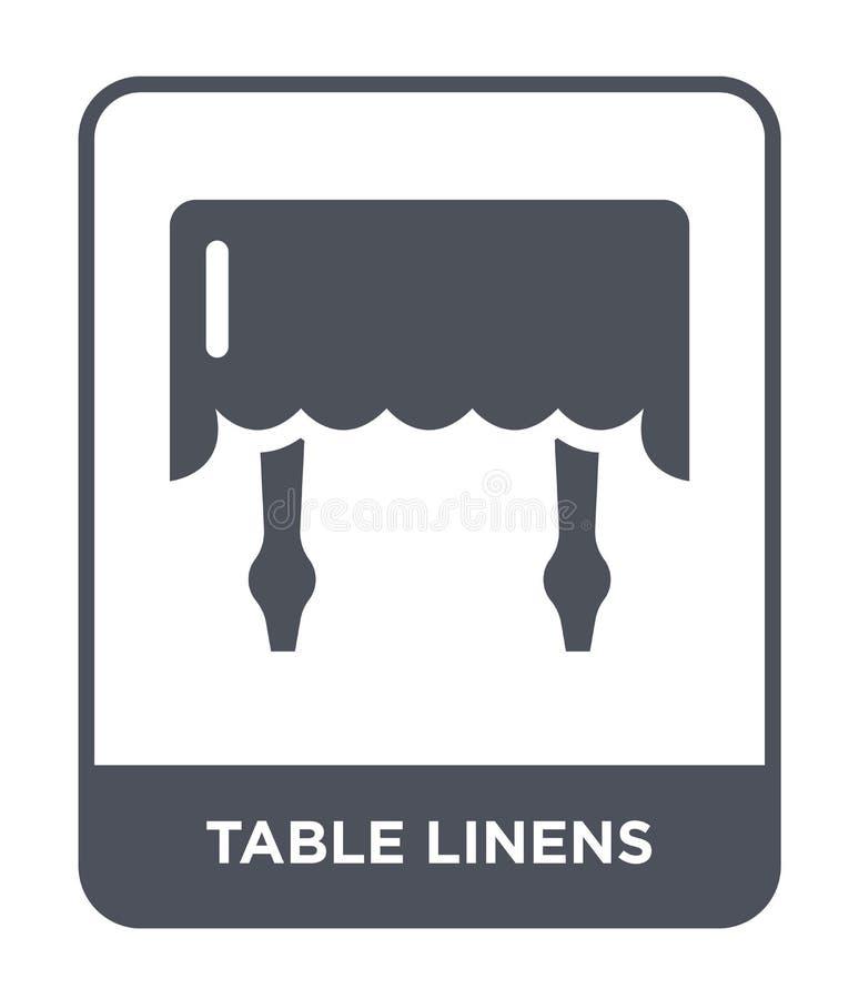 icono de los linos de tabla en estilo de moda del diseño icono de los linos de tabla aislado en el fondo blanco icono del vector  ilustración del vector