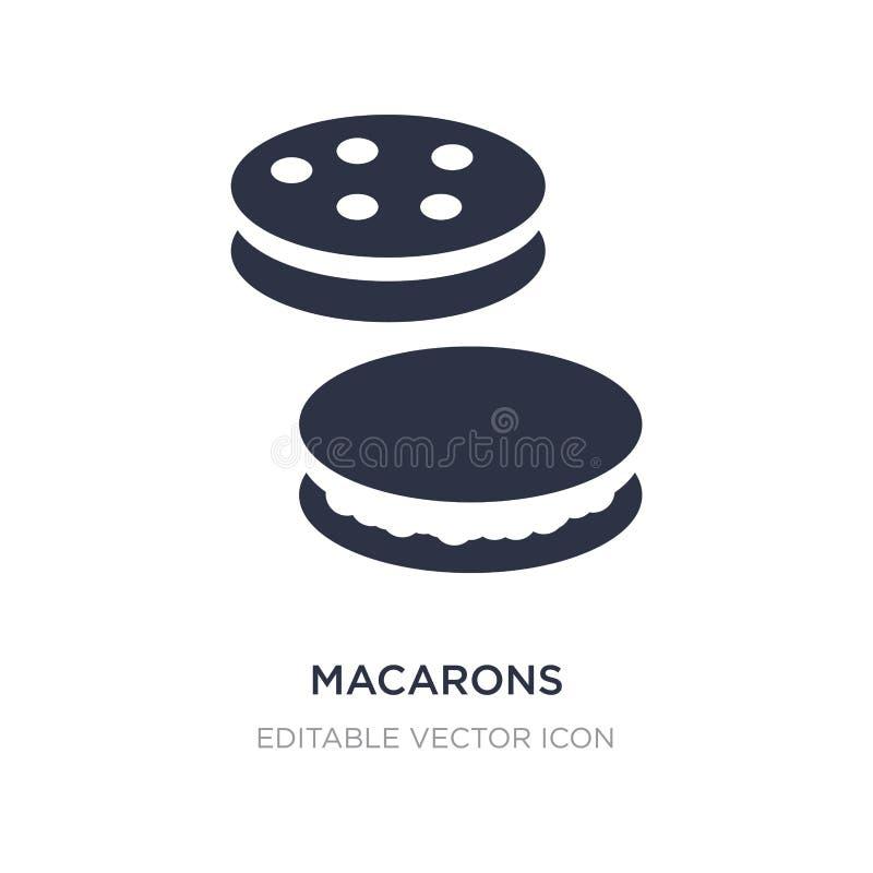 icono de los macarons en el fondo blanco Ejemplo simple del elemento del concepto de la comida stock de ilustración