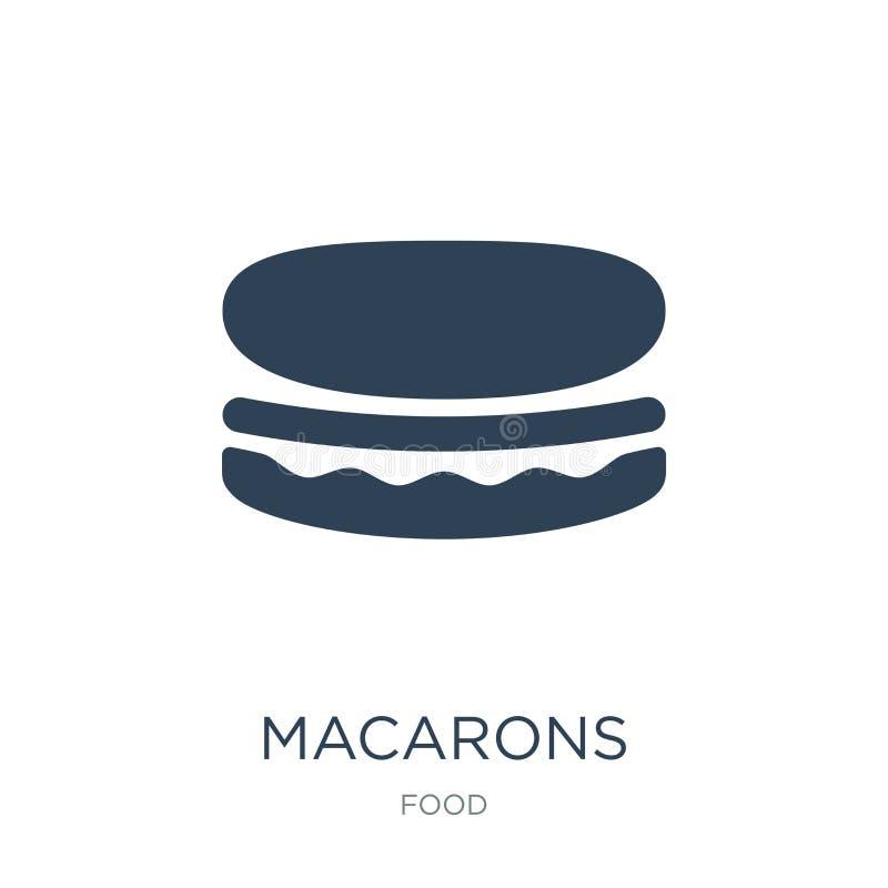 icono de los macarons en estilo de moda del diseño icono de los macarons aislado en el fondo blanco plano simple y moderno del ic libre illustration