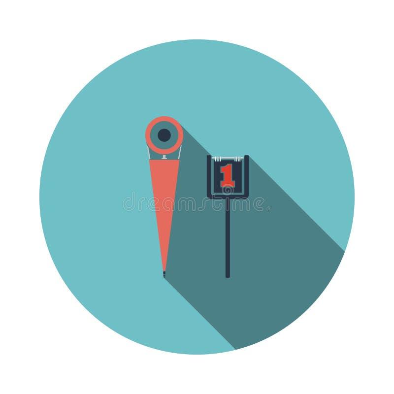 Icono de los marcadores de la línea lateral del fútbol americano stock de ilustración