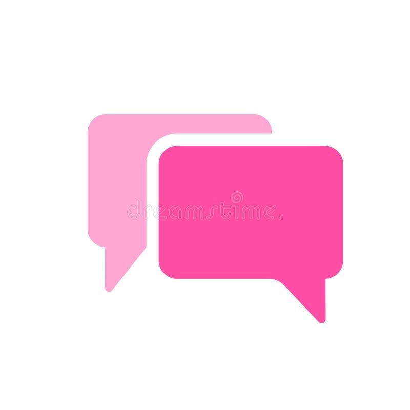 Icono de los mensajes de las charlas de las burbujas stock de ilustración