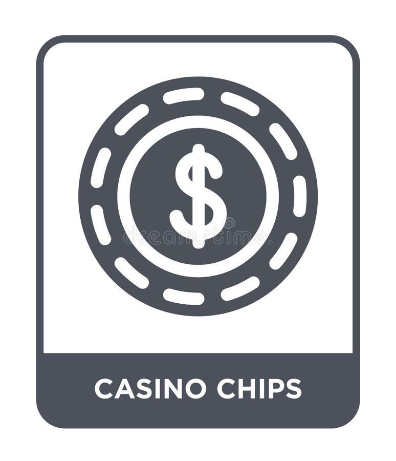 icono de los microprocesadores del casino en estilo de moda del diseño icono de los microprocesadores del casino aislado en el fo libre illustration