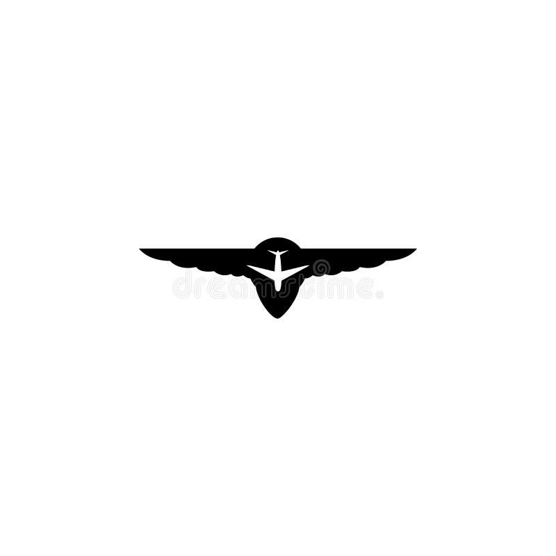 Icono de los militares de la insignia ilustración del vector