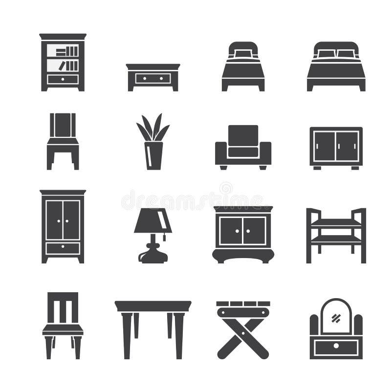Icono de los muebles ilustración del vector