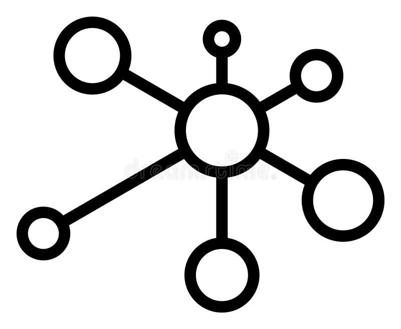 Icono de los nodos del vínculo del vector libre illustration