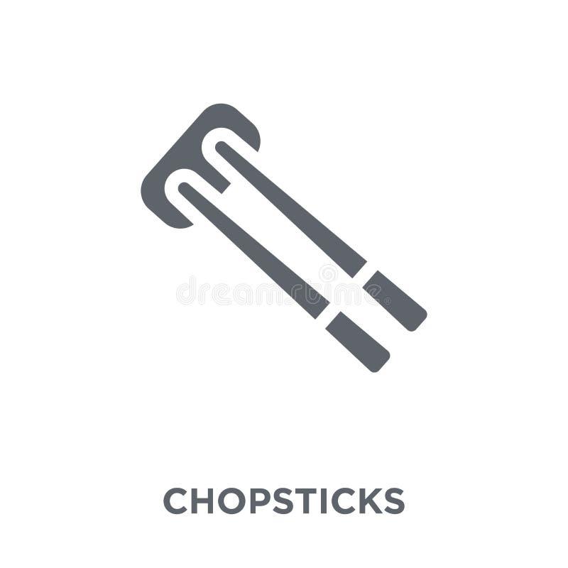 icono de los palillos de la colección ilustración del vector