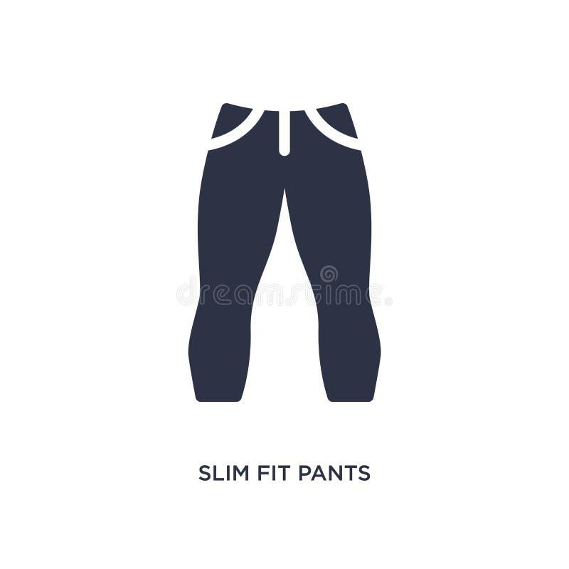 icono de los pantalones del ajustado en el fondo blanco Ejemplo simple del elemento del concepto de la ropa stock de ilustración