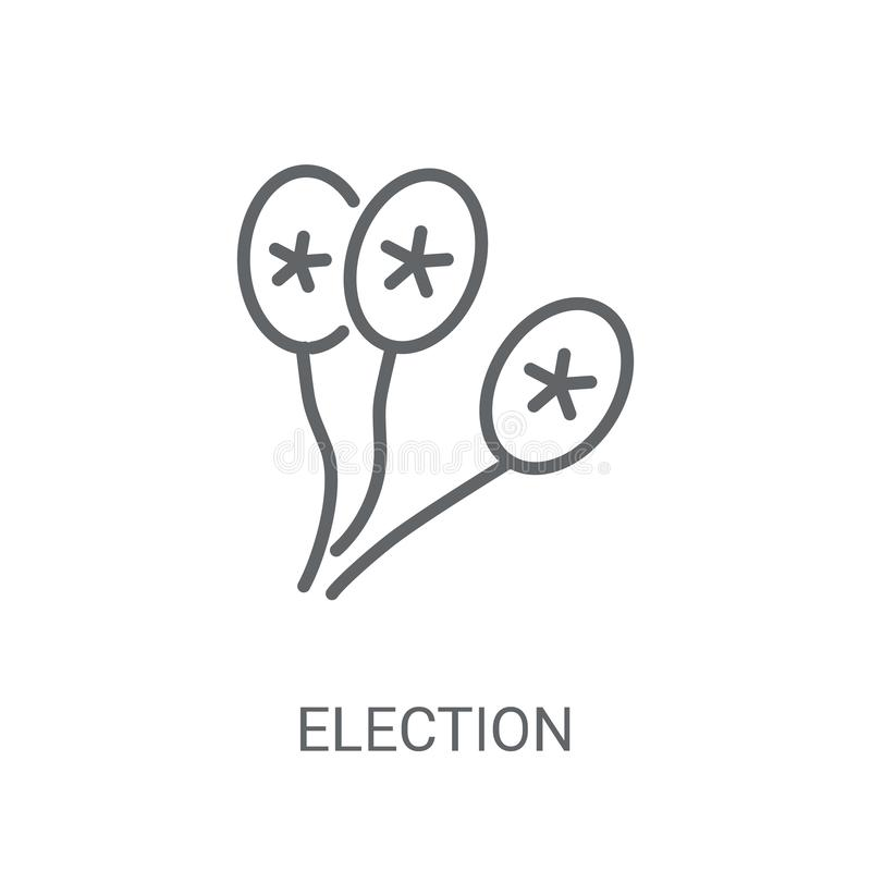 Icono de los pares de los globos de la elección Pares de moda l de los globos de la elección ilustración del vector