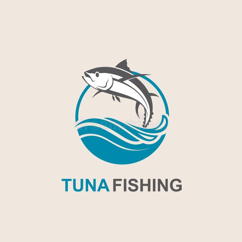 Icono de los pescados de atún stock de ilustración