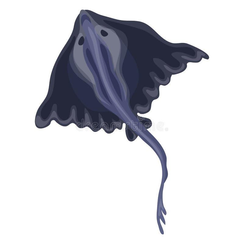 Icono de los pescados del calambre, estilo de la historieta libre illustration