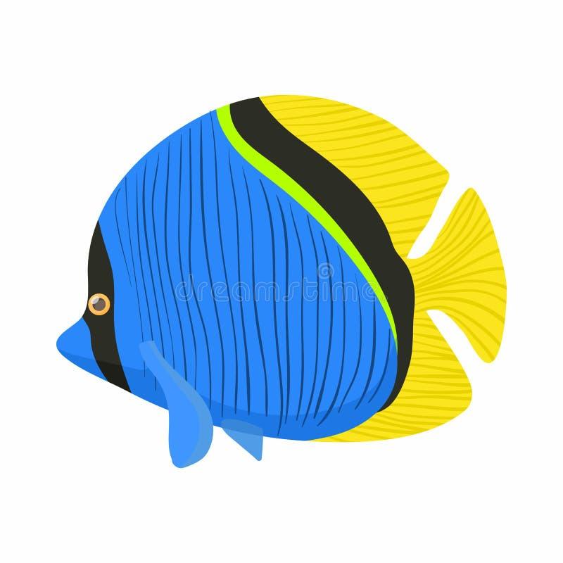 Icono de los pescados del cirujano, estilo de la historieta stock de ilustración