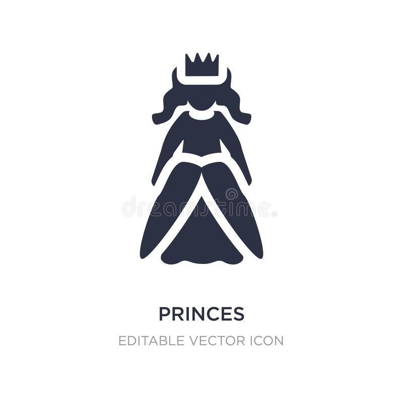 icono de los príncipes en el fondo blanco Ejemplo simple del elemento del concepto de la gente libre illustration