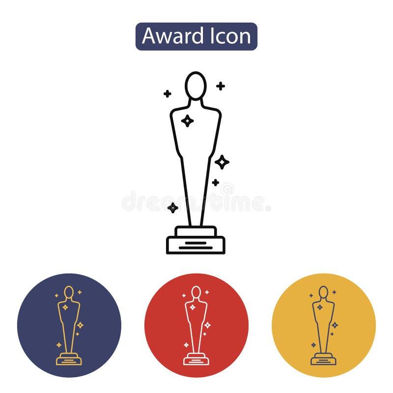 Icono de los premios de la Academia del vector libre illustration