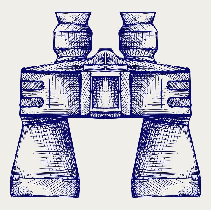Icono de los prismáticos libre illustration