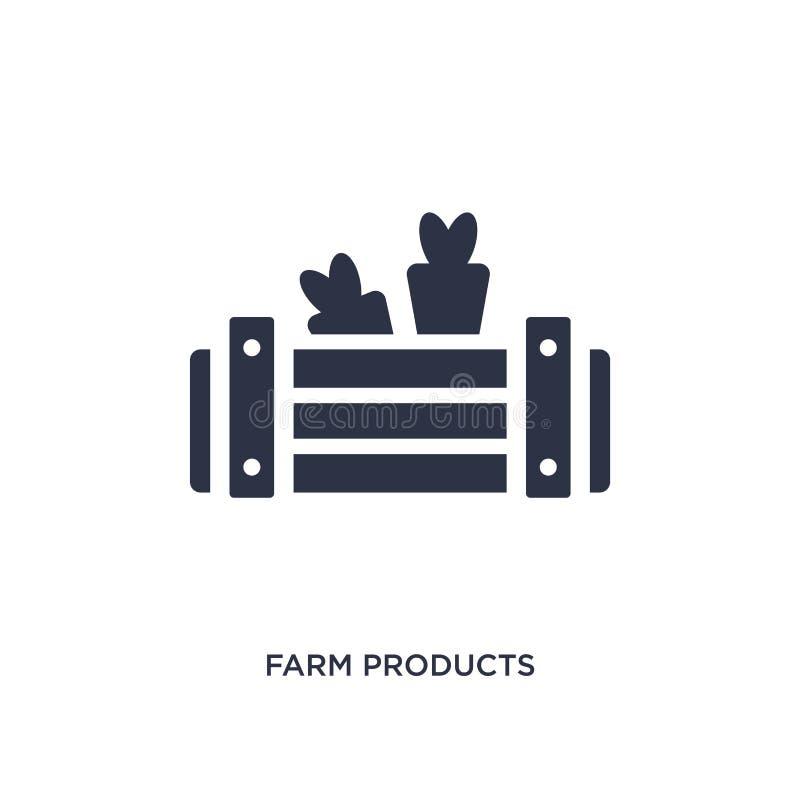 icono de los productos agrícolas en el fondo blanco Ejemplo simple del elemento del concepto agrícola y que cultiva un huerto libre illustration