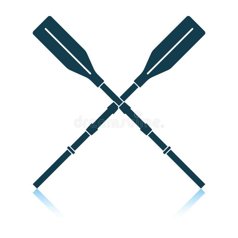 Icono de los remos del barco stock de ilustración