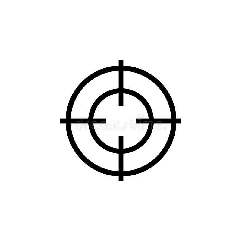 Icono de los retículos del francotirador Cruz del objetivo de la blanco Vista posterior del alcance del rifle ilustración del vector