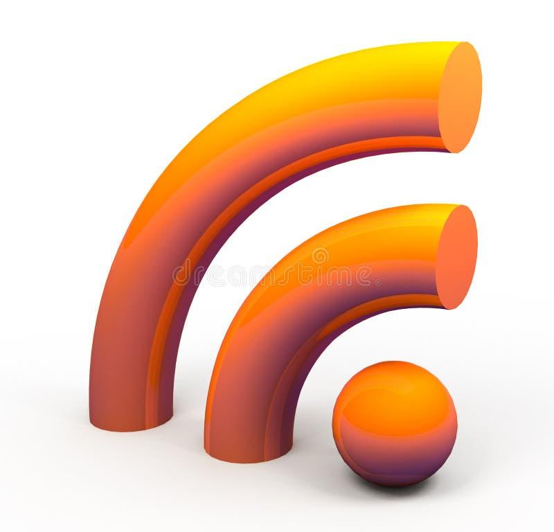 icono de los rss 3d stock de ilustración